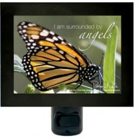 """""""I am surrounded by angels"""" positive affirmation night light"""