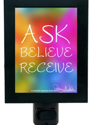 ask,believe,receive-nightlight