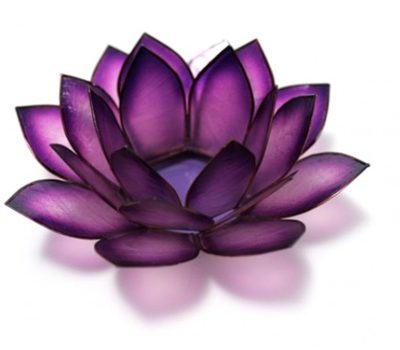 Purple Lotus Candle Holder
