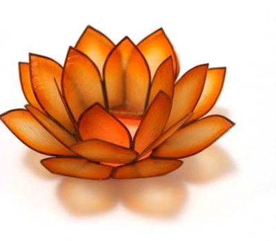 orange-lotus-candleholder