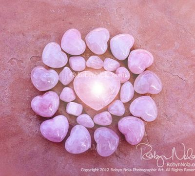 Rose Quartz Mandala, Art by Robyn Nola