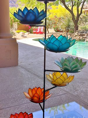 chakra lotus spiral candle holder