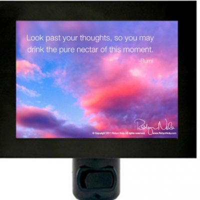 Sunset Inspirational Quote night light