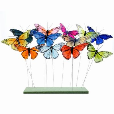 Floral Butterflies on Wire: Butterfly Gifts