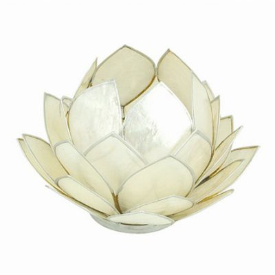 Large Pearl Lotus Candle Holder