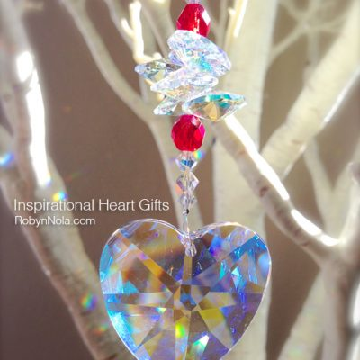 Crystal Heart Suncatcher-Valentine's Gift Ideas