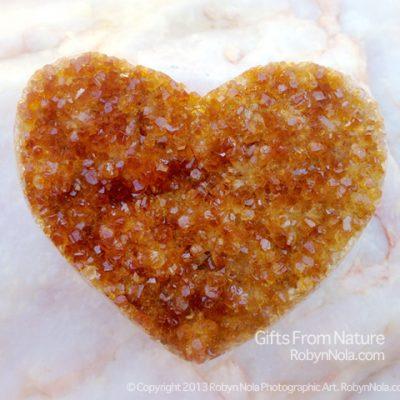 Beautiful Citrine Geode Gemstone Heart