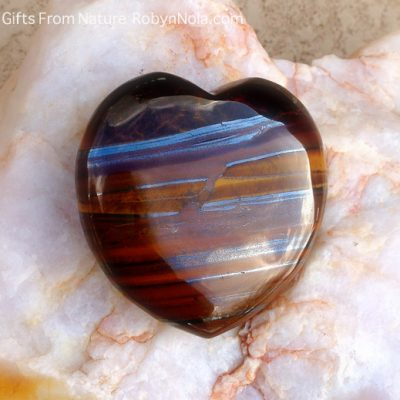 Polished Tiger Iron Heart