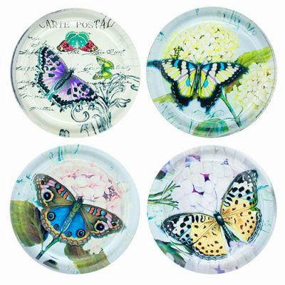 Beautiful Butterfly Drink Coasters