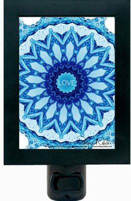 Love Mandala Art Night Light
