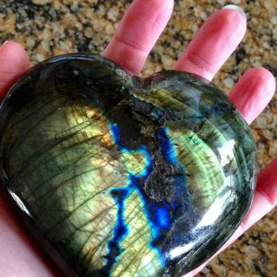 beautiful labradorite heart