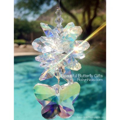 Beautiful Butterfly Gifts-Crystal Suncatcher
