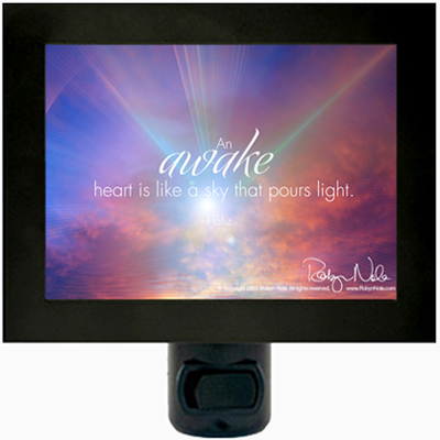 Inspirational Quote Night Light by Robyn Nola