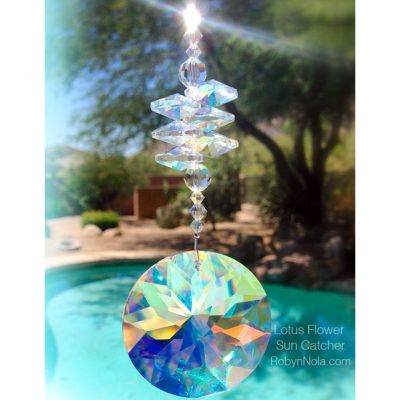 The Lotus Within Beautiful Crystal Suncatcher