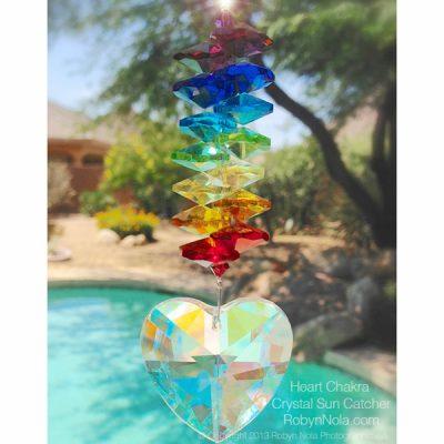 Heart Chakra Crystal Rainbow Suncatcher