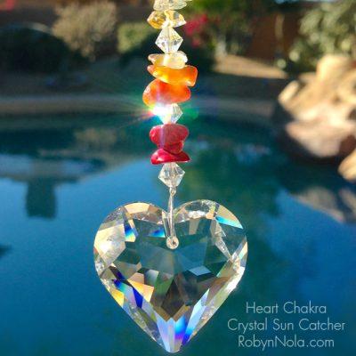 Heart Chakra Crystal Suncatcher