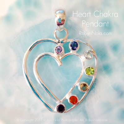 Heart Chakra Sterling Silver Pendant