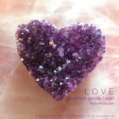 Beautiful Amethyst Geode Heart