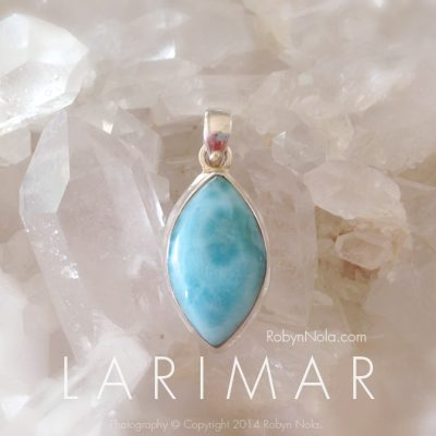 Beauiful Blue Larimar Pendant