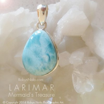 Mermaid's Treasure: Beautiful Blue Larimar Pendant