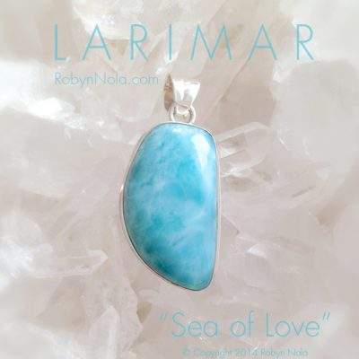Beautiful Blue Larimar Pendant