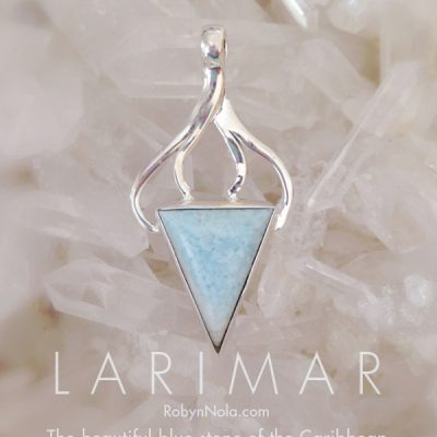 Beautiful Larimar Jewelry-Dolphin Stone