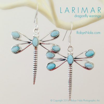 Larimar Dragonfly Earrings