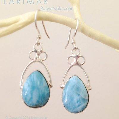 Beautiful Ocean Blue Larimar Earrings
