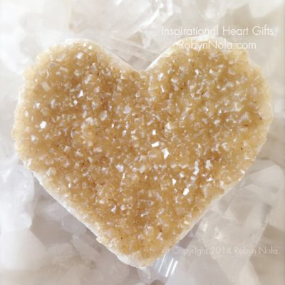 Beautiful Citrine Crystal Heart