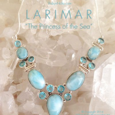 Beautiful Larimar and Blue Topaz Necklace-Princess of the Sea