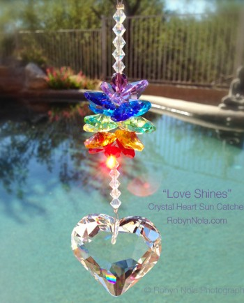 Crystal Heart Suncatcher- Beautiful and Inspirational Gifts