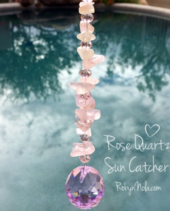 Beautiful Rose Quartz Sun Catcher