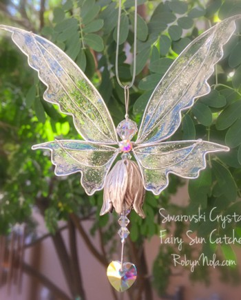 Beautiful Fairy Swarovski Crystal Sun Catcher