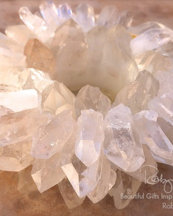 Large Quartz Point Candleholder