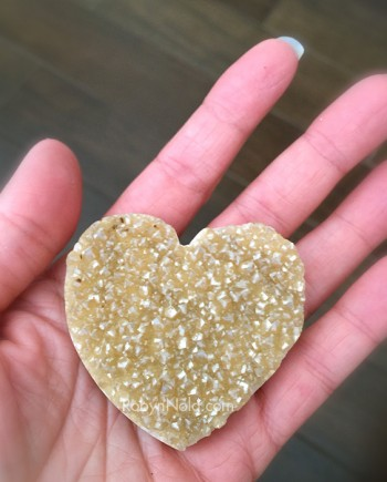 citrine geode heart