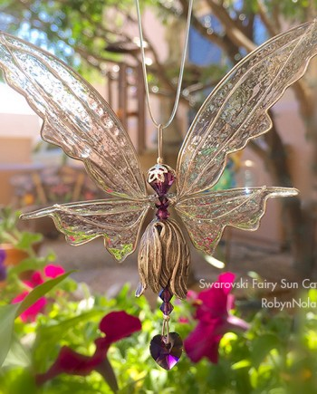 swarovski crystal fairy sun catcher