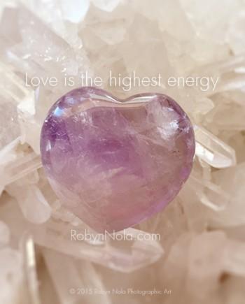 Beautiful Amethyst Heart