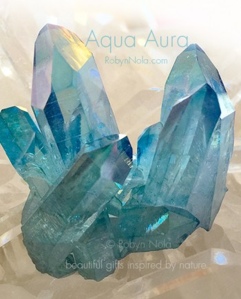 Beautiful Aqua Aura Crystals
