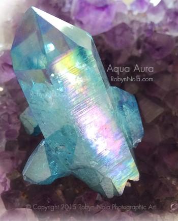 Rainbow Healer Aqua Aura Quartz Crystal