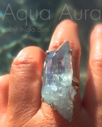 Beautiful Aqua Aura Crystals