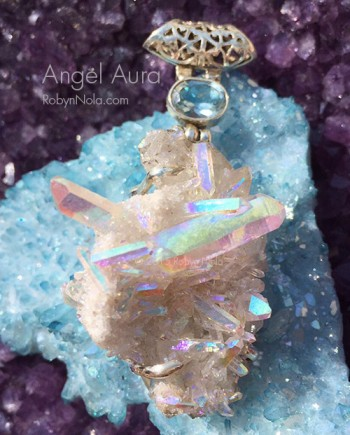 Angel Aura Quartz Crystal Pendant