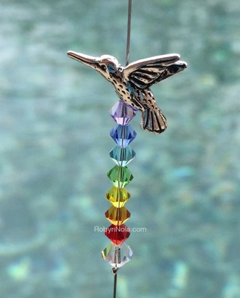 hummingbird crystal rainbow sun catcher